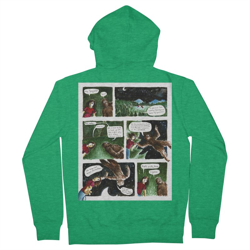 Thoughts With Sasquatch Comic Women's Zip-Up Hoody by Madeleine Hettich Design & Illustration