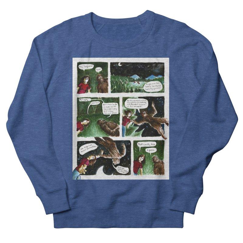 Thoughts With Sasquatch Comic Men's Sweatshirt by Madeleine Hettich Design & Illustration