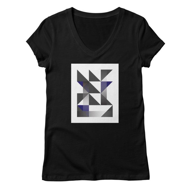 Geometric Design Series 1.5, Poster 11 Women's V-Neck by Madeleine Hettich Design & Illustration