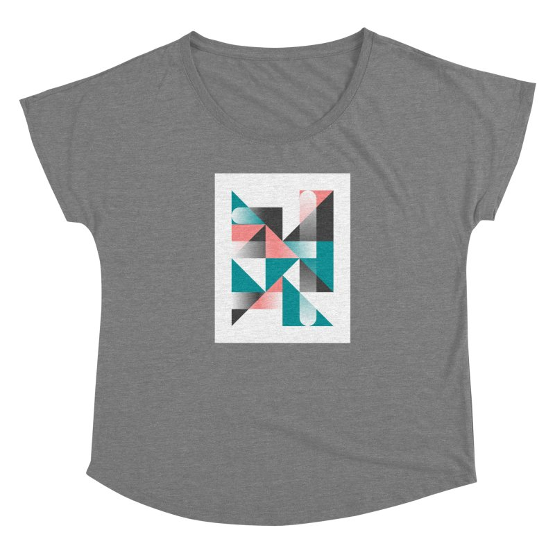 Geometric Design Series 1.5, Poster 4 Women's Scoop Neck by Madeleine Hettich Design & Illustration