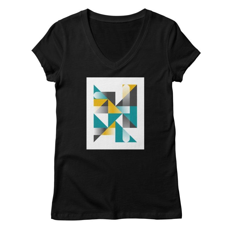 Geometric Design Series 1.5, Poster 3 Women's V-Neck by Madeleine Hettich Design & Illustration