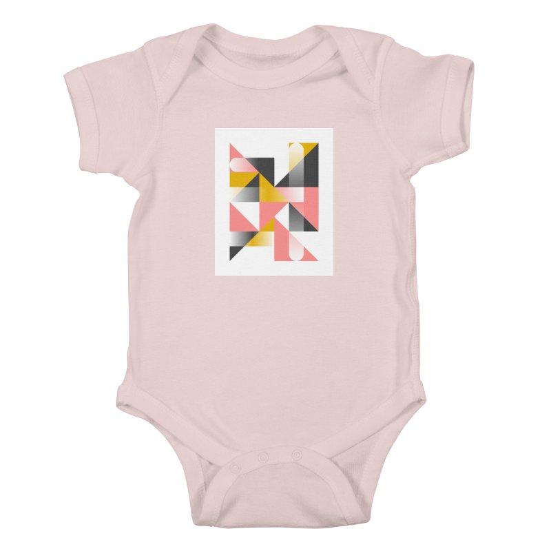 Geometric Design Series 1.5, Poster 2 Kids Baby Bodysuit by Madeleine Hettich Design & Illustration