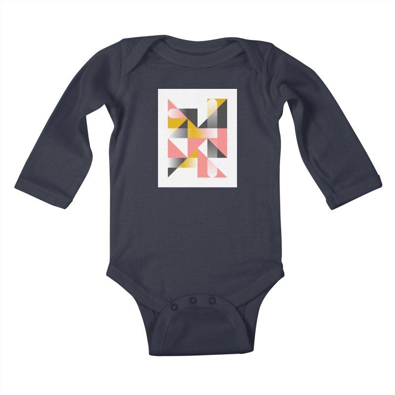 Geometric Design Series 1.5, Poster 2 Kids Baby Longsleeve Bodysuit by Madeleine Hettich Design & Illustration