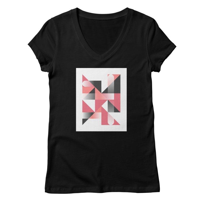 Geometric Design Series 1.5, Poster 1 Women's V-Neck by Madeleine Hettich Design & Illustration