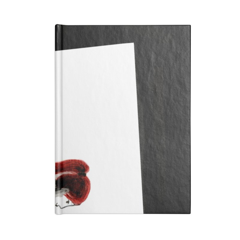Black Widow Fan Illustration 2 Accessories Blank Journal Notebook by Madeleine Hettich Design & Illustration