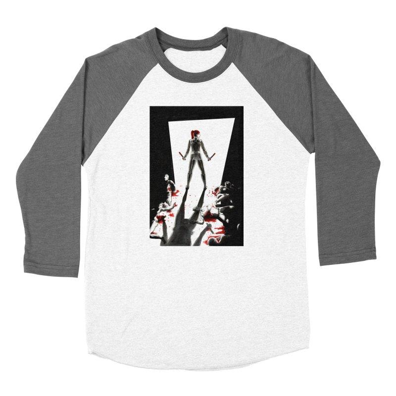 Black Widow Fan Illustration 2 Women's Longsleeve T-Shirt by Madeleine Hettich Design & Illustration