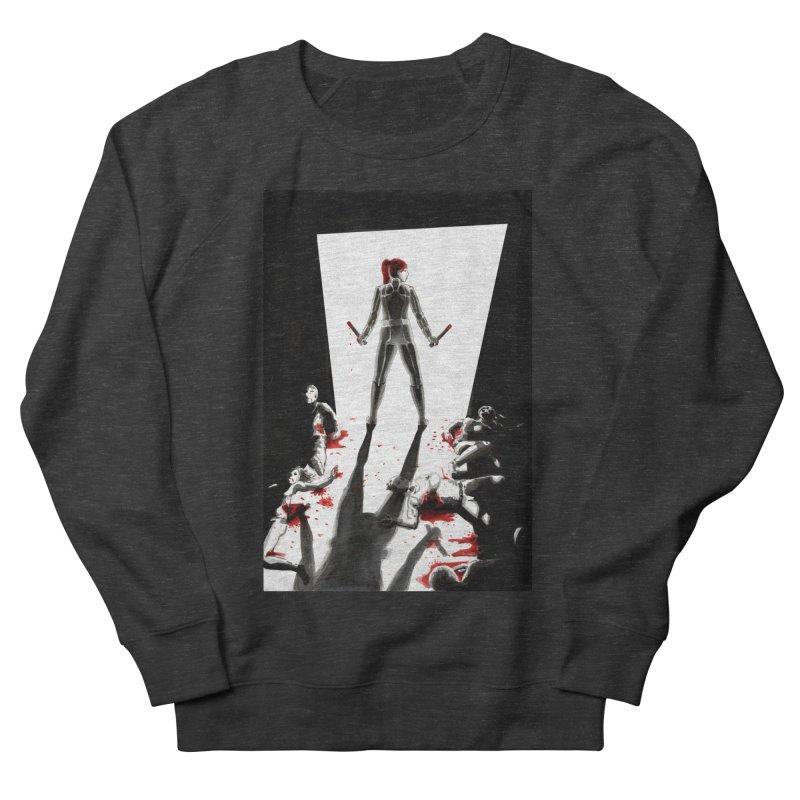 Black Widow Fan Illustration 2 Men's Sweatshirt by Madeleine Hettich Design & Illustration