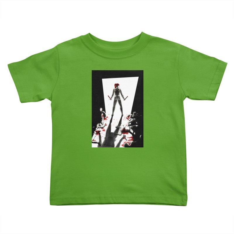 Black Widow Fan Illustration 2 Kids Toddler T-Shirt by Madeleine Hettich Design & Illustration
