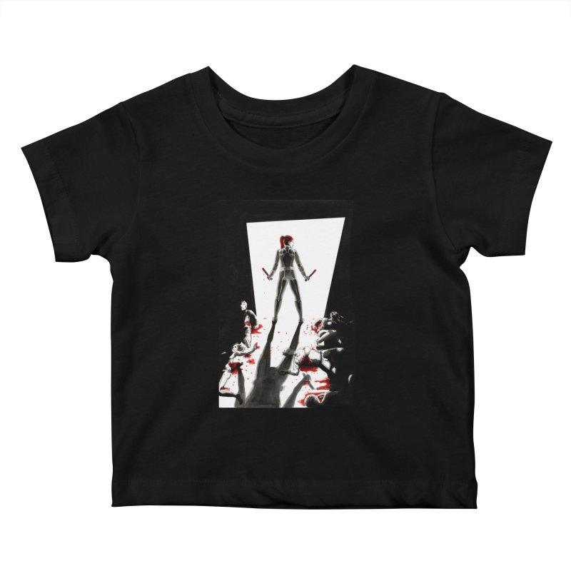 Black Widow Fan Illustration 2 Kids Baby T-Shirt by Madeleine Hettich Design & Illustration