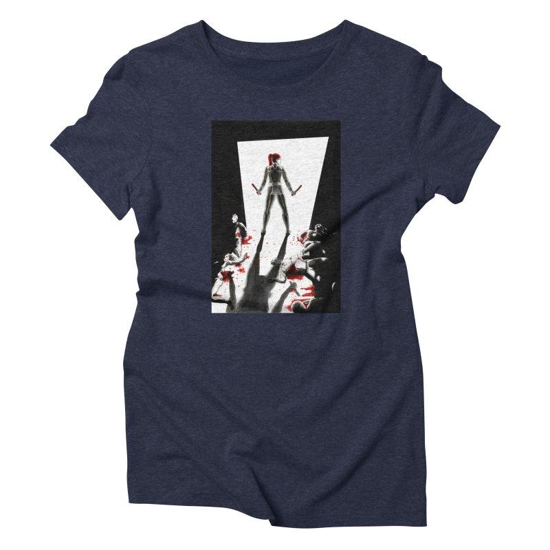 Black Widow Fan Illustration 2 Women's T-Shirt by Madeleine Hettich Design & Illustration
