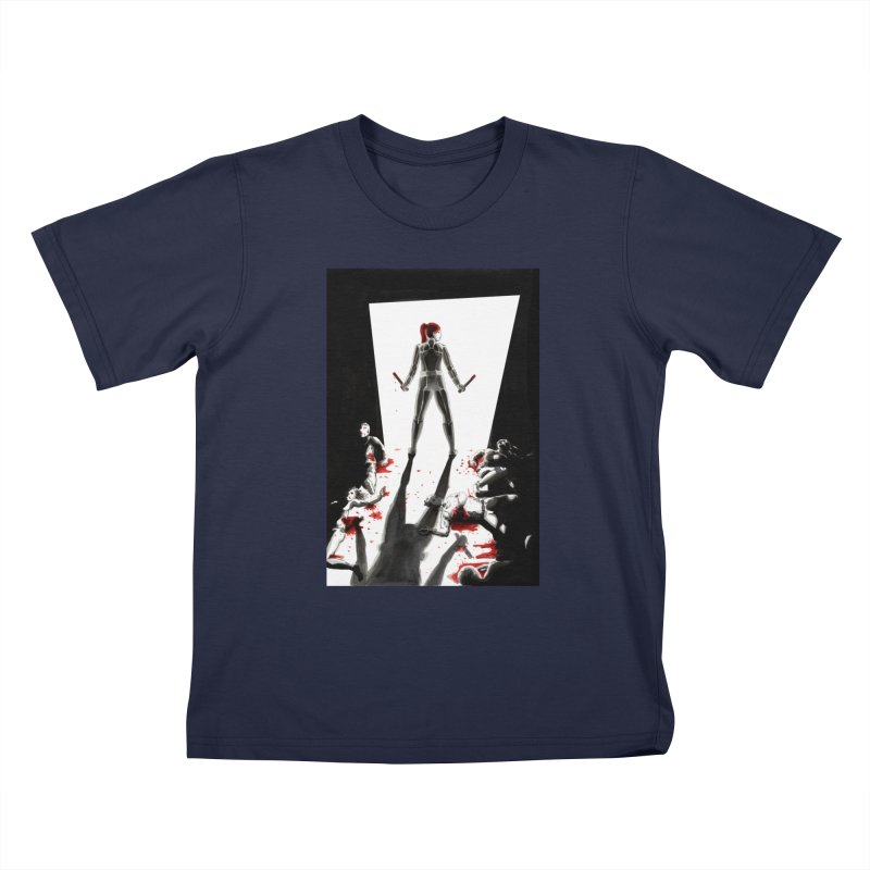 Black Widow Fan Illustration 2 Kids T-Shirt by Madeleine Hettich Design & Illustration