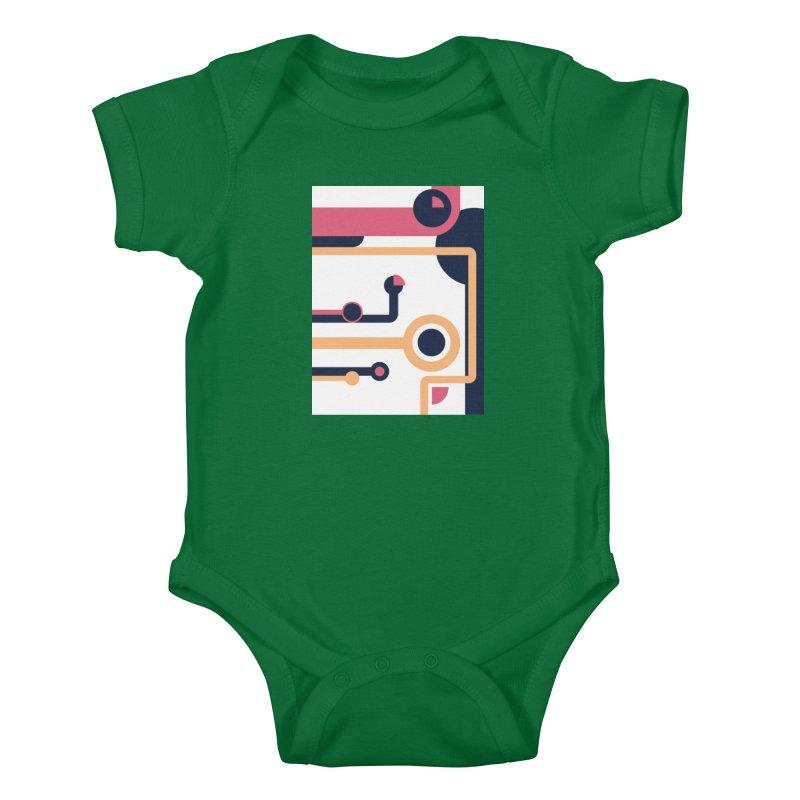 Geometric Design Series 3, Poster 4 Kids Baby Bodysuit by Madeleine Hettich Design & Illustration