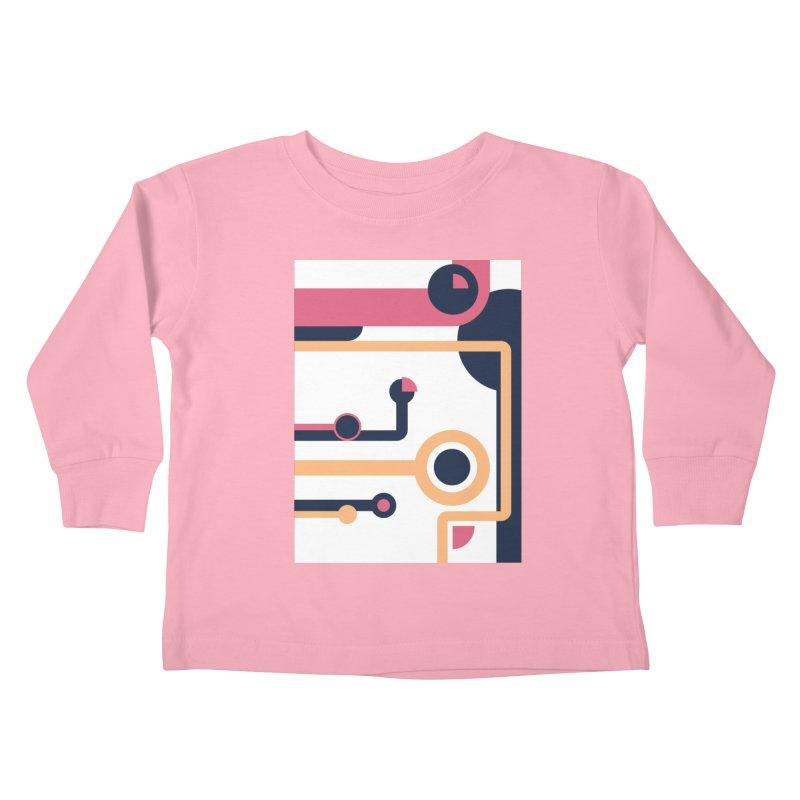 Geometric Design Series 3, Poster 4 Kids Toddler Longsleeve T-Shirt by Madeleine Hettich Design & Illustration