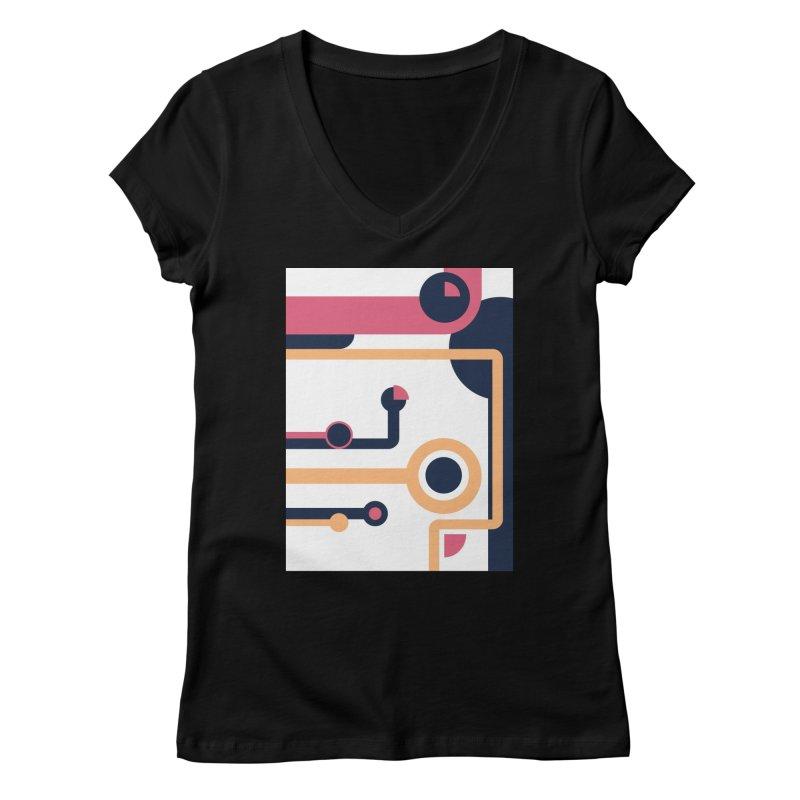Geometric Design Series 3, Poster 4 Women's V-Neck by Madeleine Hettich Design & Illustration