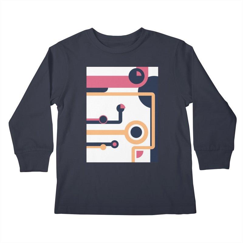 Geometric Design Series 3, Poster 4 Kids Longsleeve T-Shirt by Madeleine Hettich Design & Illustration