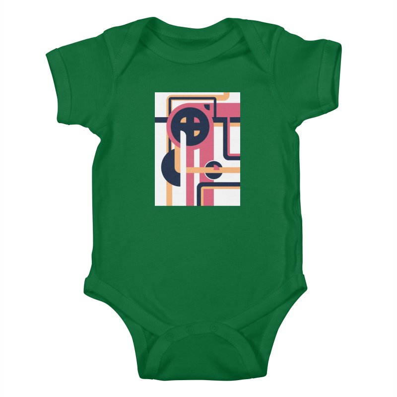 Geometric Design Series 3, Poster 3 Kids Baby Bodysuit by Madeleine Hettich Design & Illustration