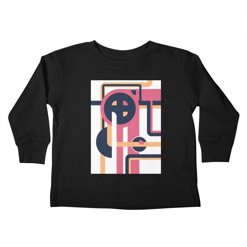 Geometric Design Series 3, Poster 3 Kids Toddler Longsleeve T-Shirt by Madeleine Hettich Design & Illustration