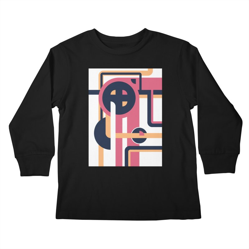 Geometric Design Series 3, Poster 3 Kids Longsleeve T-Shirt by Madeleine Hettich Design & Illustration