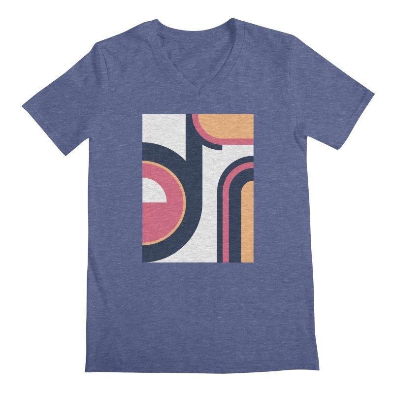 Geometric Design Series 3, Poster 2 Men's V-Neck by Madeleine Hettich Design & Illustration