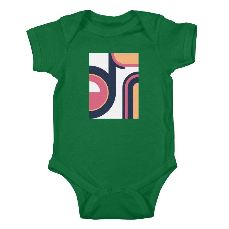 Geometric Design Series 3, Poster 2 Kids Baby Bodysuit by Madeleine Hettich Design & Illustration