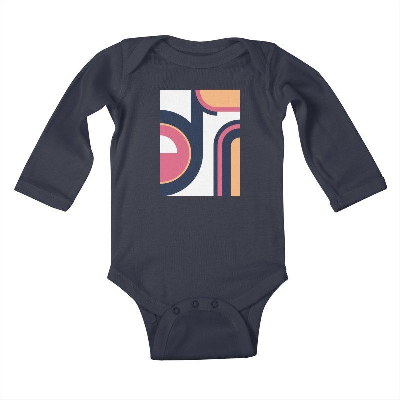 Geometric Design Series 3, Poster 2 Kids Baby Longsleeve Bodysuit by Madeleine Hettich Design & Illustration