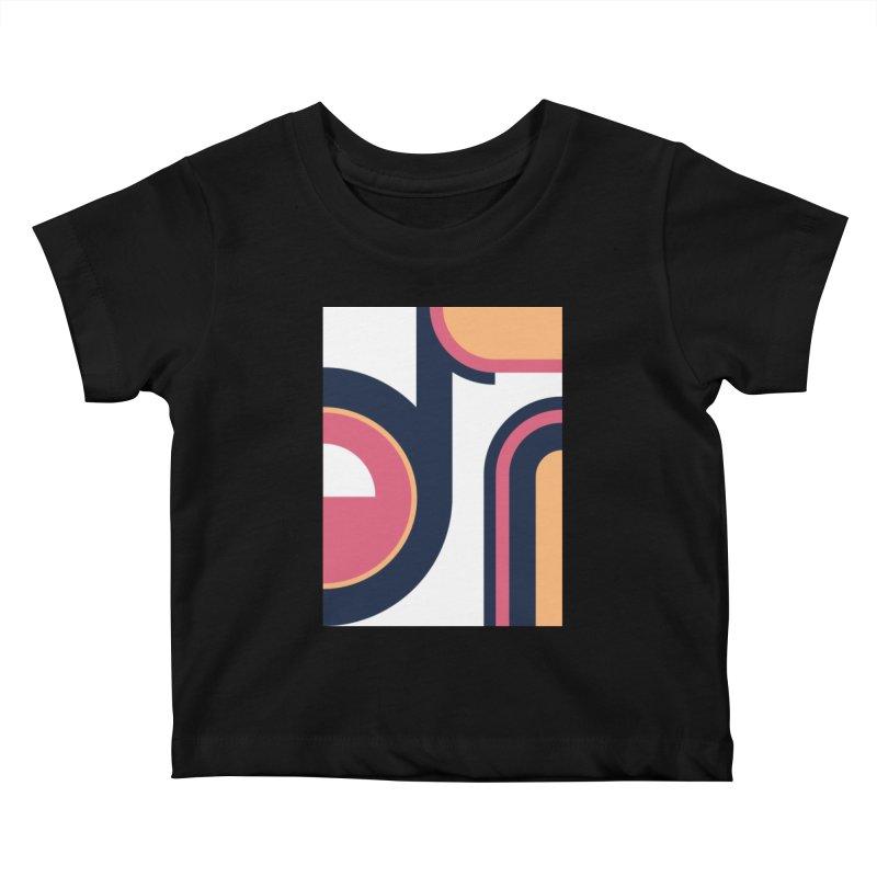 Geometric Design Series 3, Poster 2 Kids Baby T-Shirt by Madeleine Hettich Design & Illustration