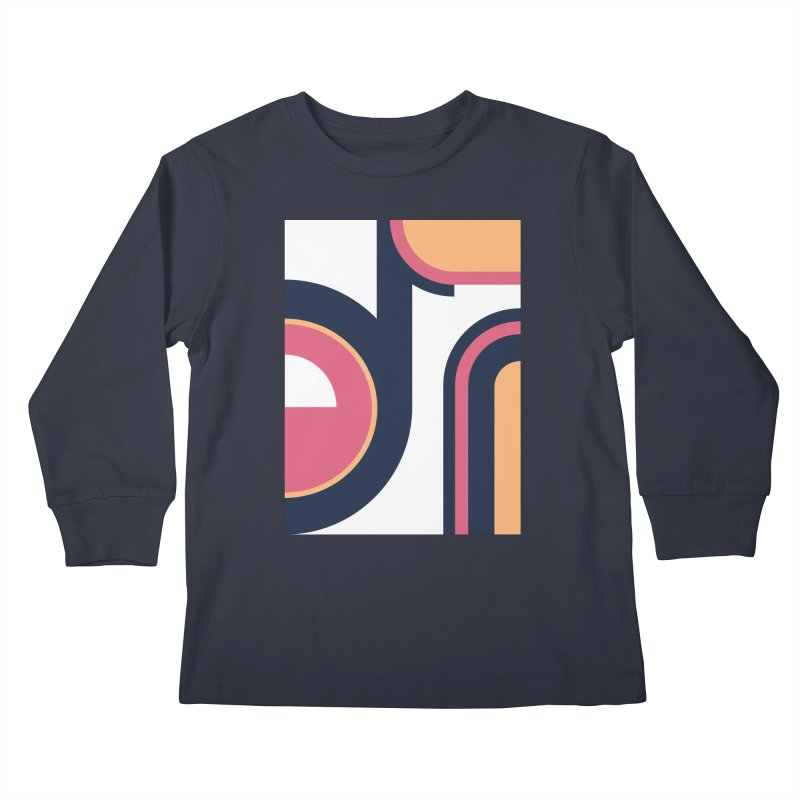 Geometric Design Series 3, Poster 2 Kids Longsleeve T-Shirt by Madeleine Hettich Design & Illustration