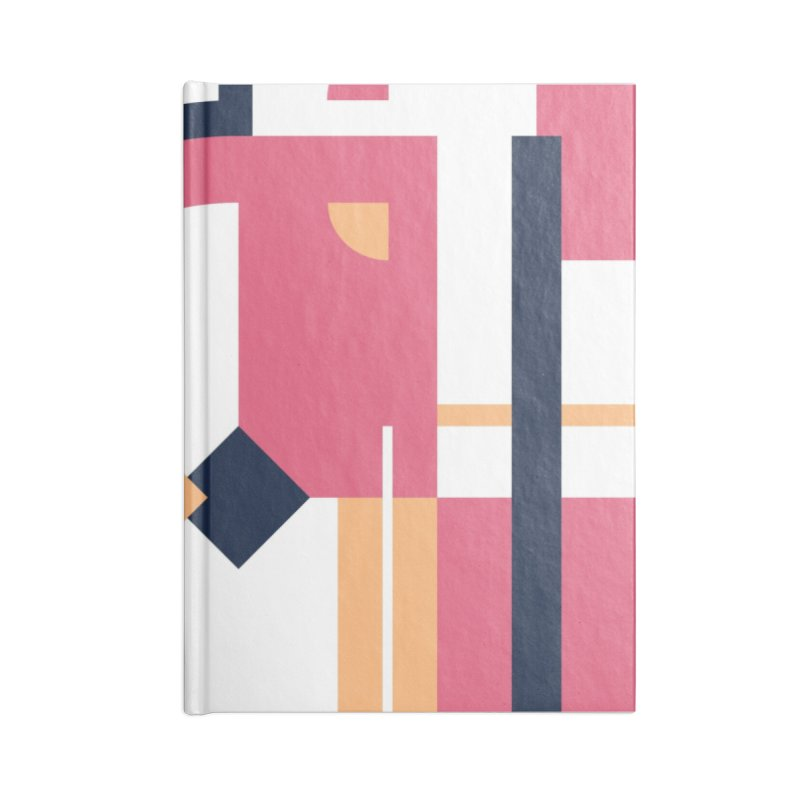 Geometric Design Series 3, Poster 1 Accessories Blank Journal Notebook by Madeleine Hettich Design & Illustration