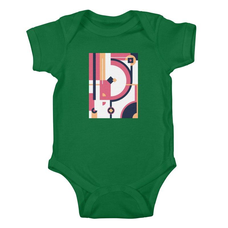 Geometric Design Series 3, Poster 1 Kids Baby Bodysuit by Madeleine Hettich Design & Illustration