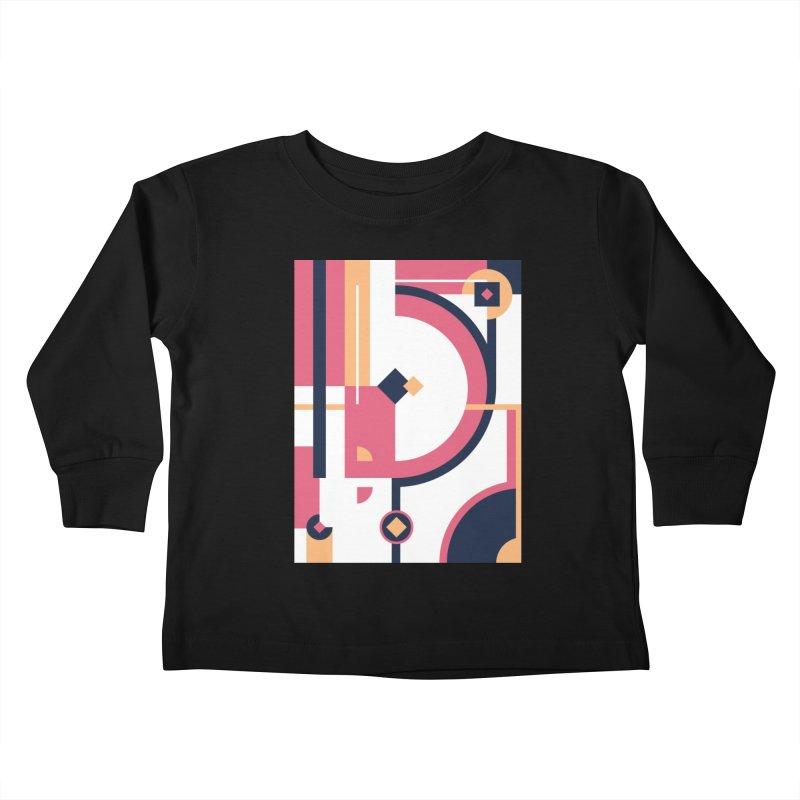 Geometric Design Series 3, Poster 1 Kids Toddler Longsleeve T-Shirt by Madeleine Hettich Design & Illustration