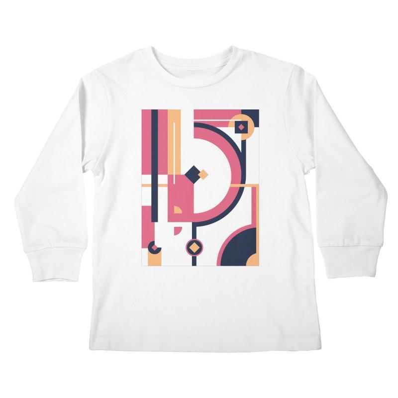 Geometric Design Series 3, Poster 1 Kids Longsleeve T-Shirt by Madeleine Hettich Design & Illustration