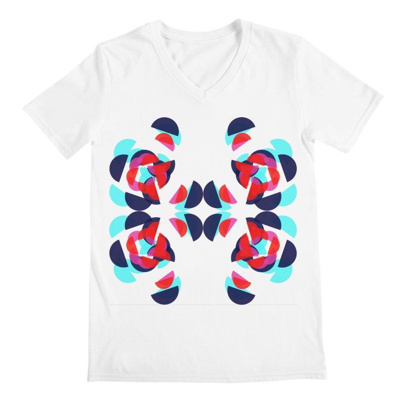 Kaleidoscope Design Series 1.5, Poster 3 Men's V-Neck by Madeleine Hettich Design & Illustration