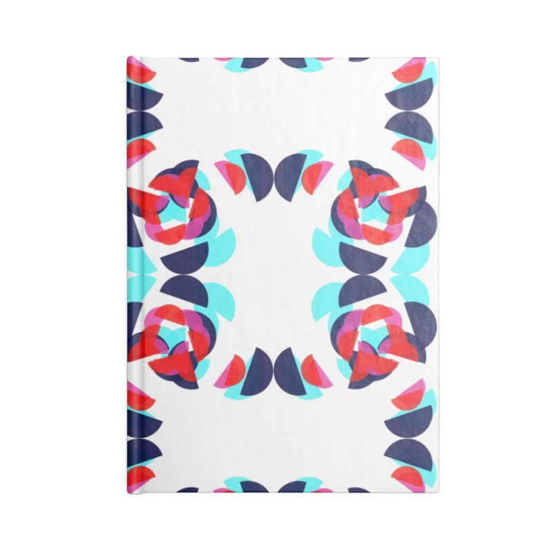 Kaleidoscope Design Series 1.5, Poster 1 Accessories Blank Journal Notebook by Madeleine Hettich Design & Illustration