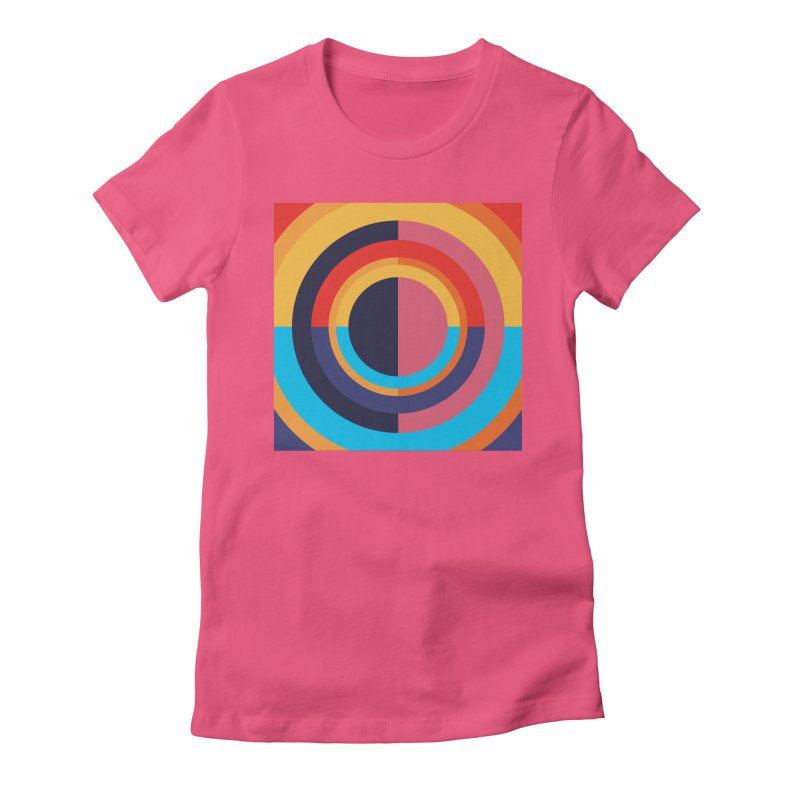 Geometric Design Series 4, Poster 10 Women's Fitted T-Shirt by Madeleine Hettich Design & Illustration