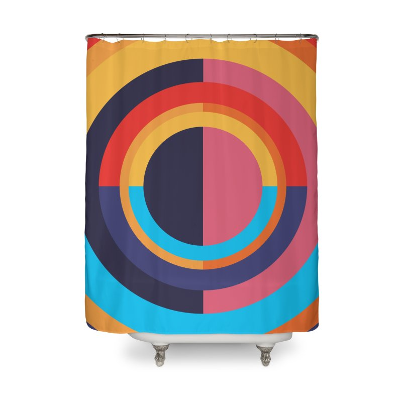 Geometric Design Series 4, Poster 10 Home Shower Curtain by Madeleine Hettich Design & Illustration