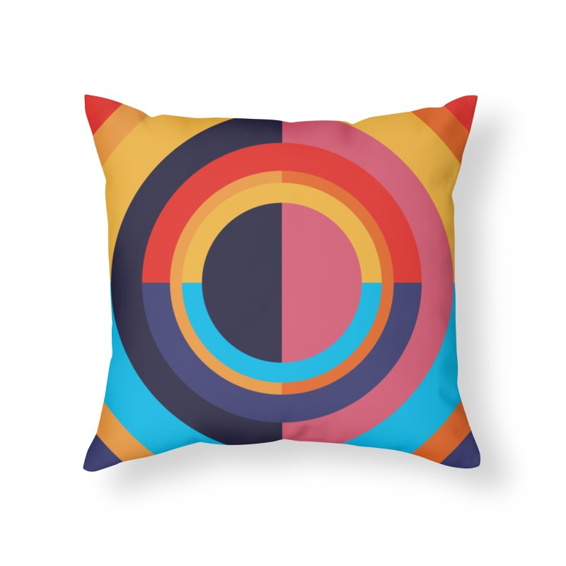 Geometric Design Series 4, Poster 10 Home Throw Pillow by Madeleine Hettich Design & Illustration