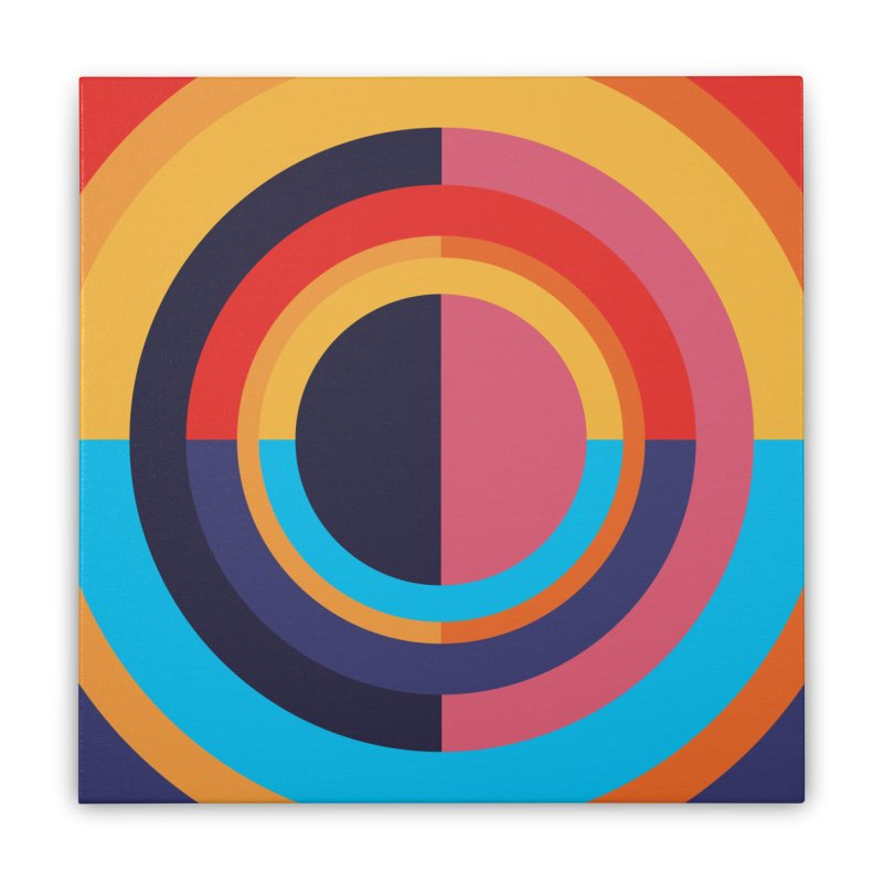 Geometric Design Series 4, Poster 10 Home Stretched Canvas by Madeleine Hettich Design & Illustration