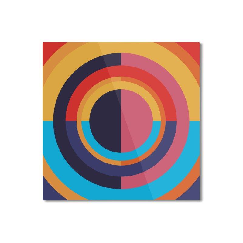 Geometric Design Series 4, Poster 10 Home Mounted Aluminum Print by Madeleine Hettich Design & Illustration