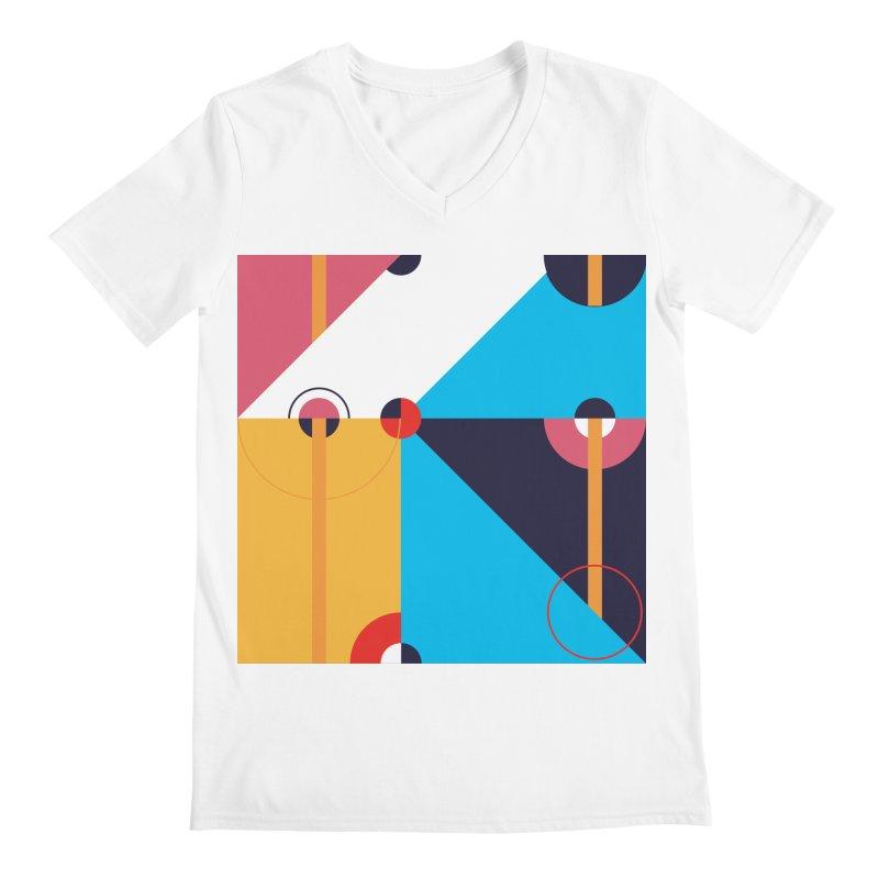Geometric Design Series 4, Poster 11 Men's V-Neck by Madeleine Hettich Design & Illustration