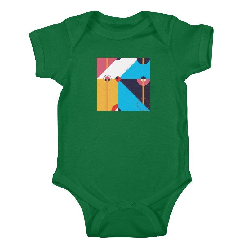 Geometric Design Series 4, Poster 11 Kids Baby Bodysuit by Madeleine Hettich Design & Illustration