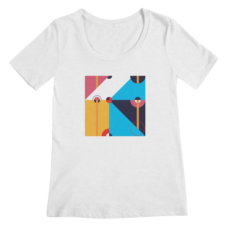 Geometric Design Series 4, Poster 11 Women's Scoopneck by Madeleine Hettich Design & Illustration