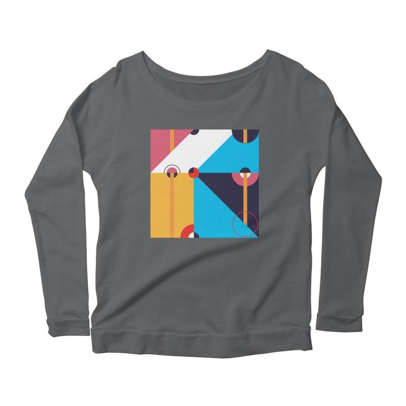 Geometric Design Series 4, Poster 11 Women's Longsleeve T-Shirt by Madeleine Hettich Design & Illustration