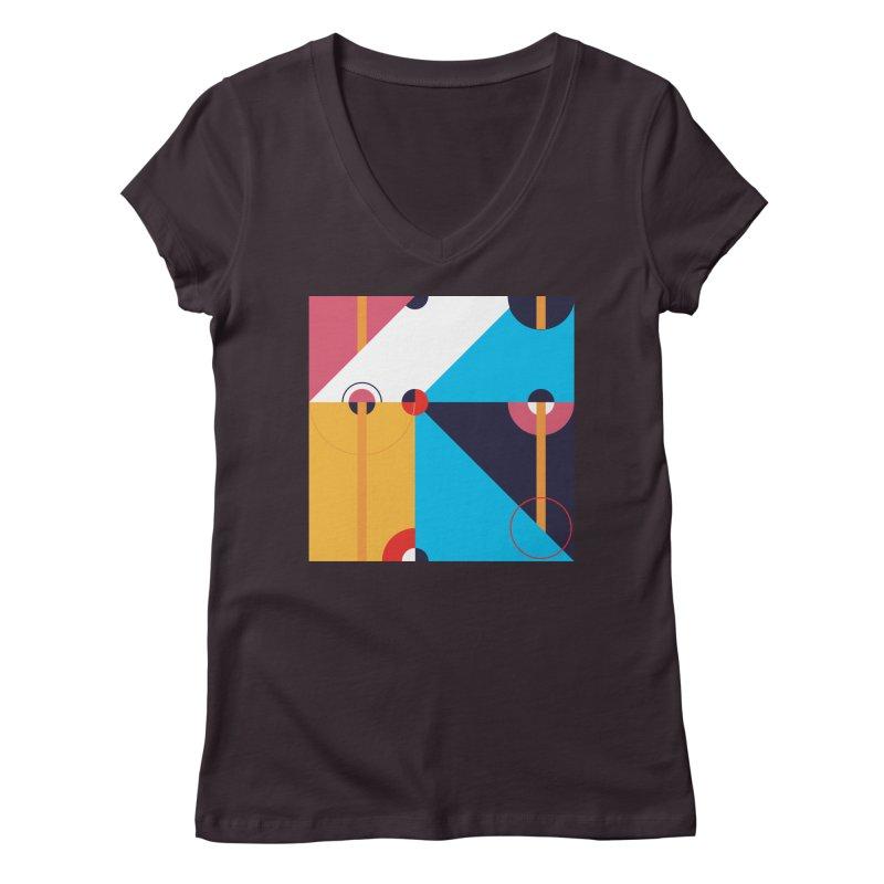Geometric Design Series 4, Poster 11 Women's V-Neck by Madeleine Hettich Design & Illustration