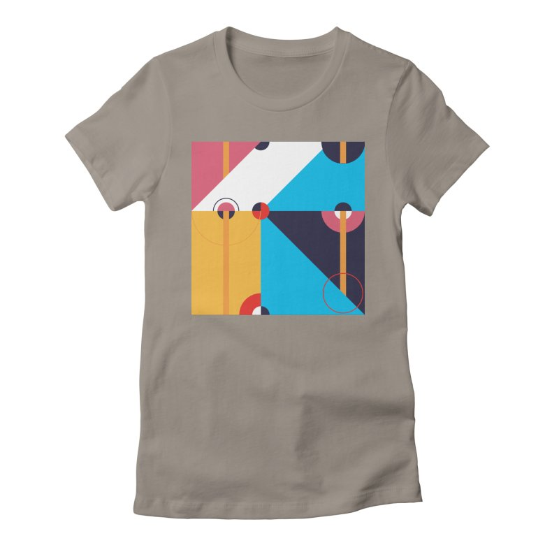 Geometric Design Series 4, Poster 11 Women's Fitted T-Shirt by Madeleine Hettich Design & Illustration
