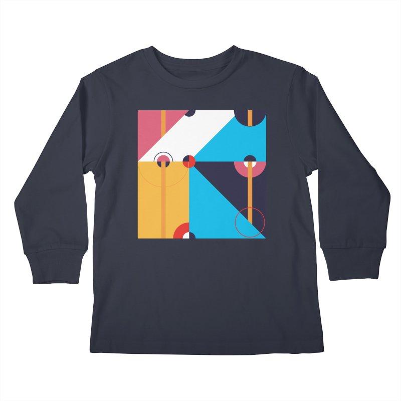 Geometric Design Series 4, Poster 11 Kids Longsleeve T-Shirt by Madeleine Hettich Design & Illustration