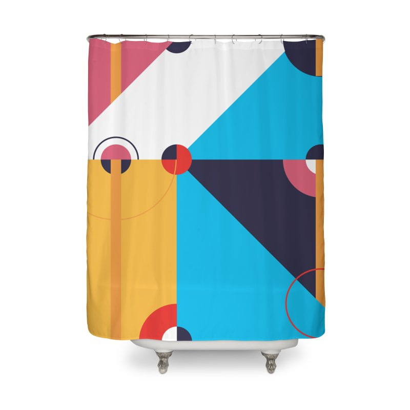 Geometric Design Series 4, Poster 11 Home Shower Curtain by Madeleine Hettich Design & Illustration