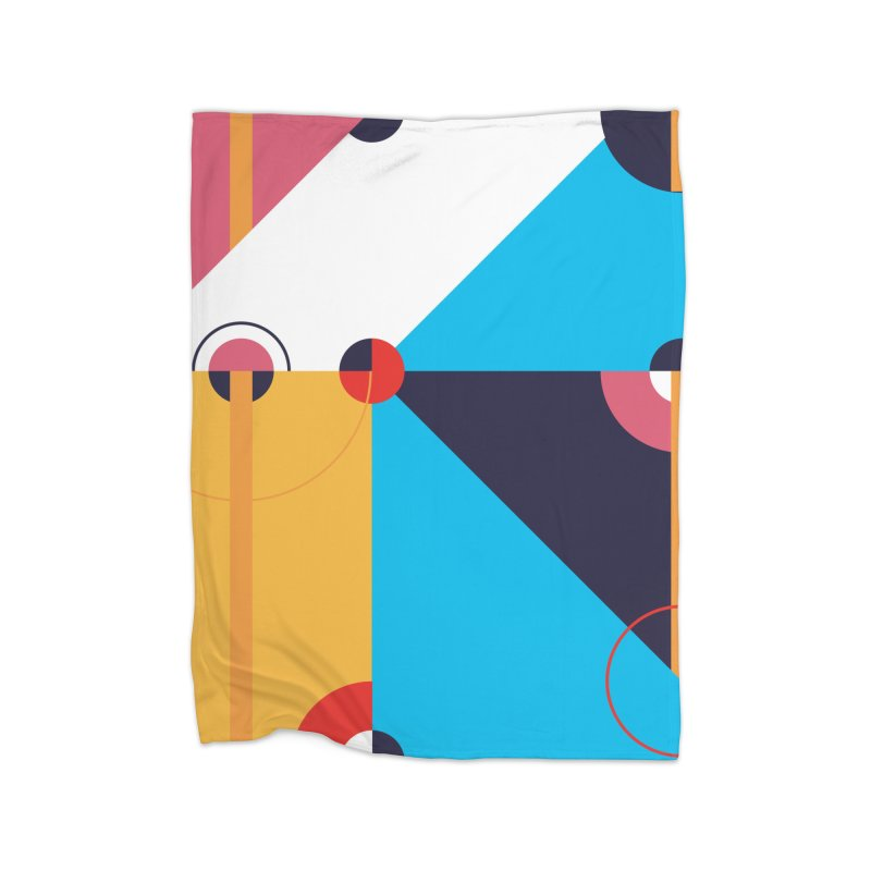 Geometric Design Series 4, Poster 11 Home Fleece Blanket Blanket by Madeleine Hettich Design & Illustration