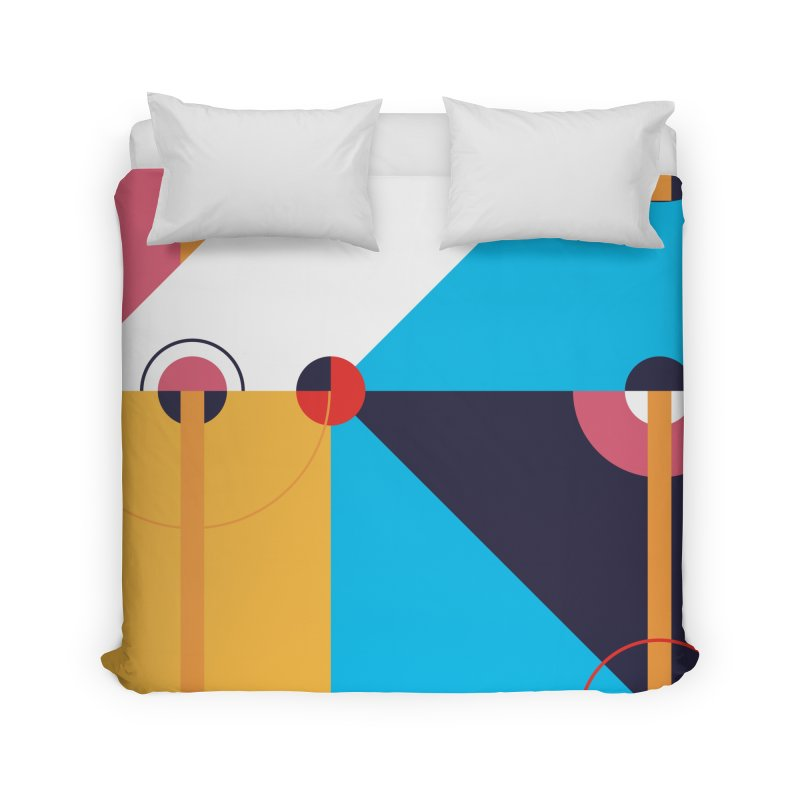 Geometric Design Series 4, Poster 11 Home Duvet by Madeleine Hettich Design & Illustration