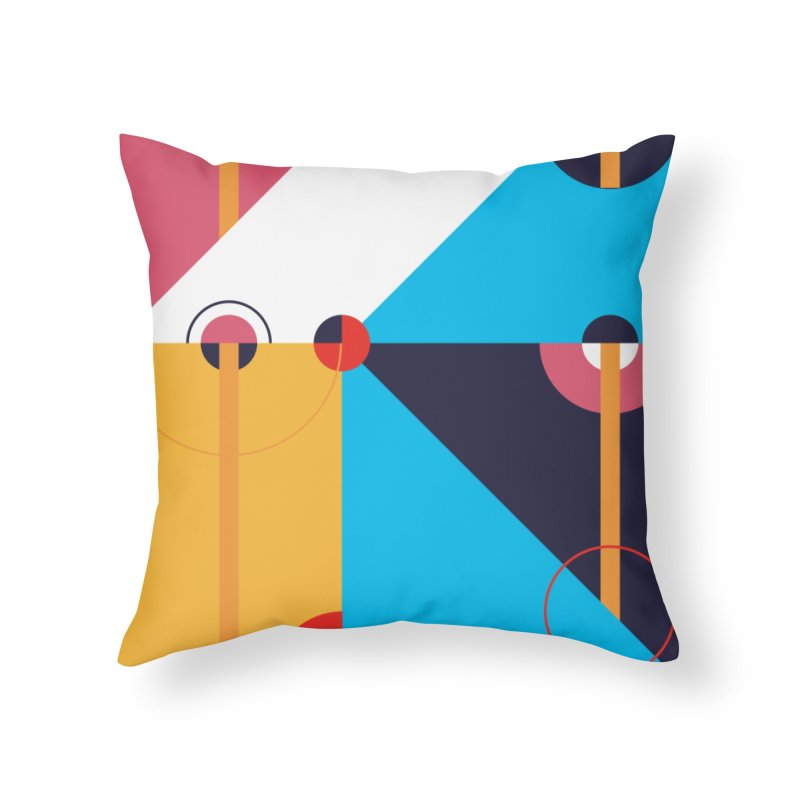 Geometric Design Series 4, Poster 11 Home Throw Pillow by Madeleine Hettich Design & Illustration