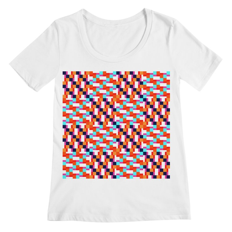 Geometric Design Series 4, Poster 9 (Version 2) Women's Scoopneck by Madeleine Hettich Design & Illustration